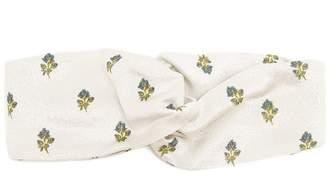 Valentino Floral-jacquard turban headband