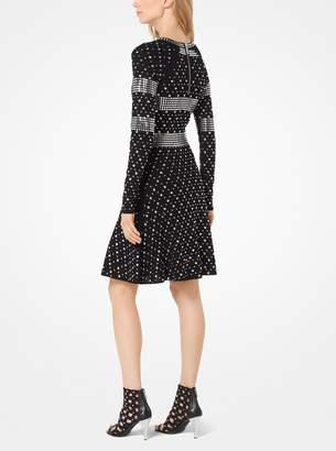 MICHAEL Michael Kors Studded Jersey Dress
