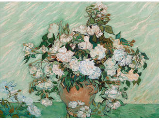 House of Hampton 'Roses 1890' by Vincent van Gogh Framed Painting Print on Wrapped Canvas