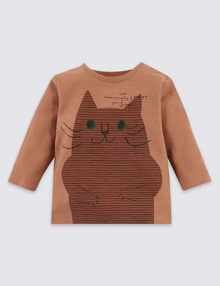 Marks and Spencer Pure Cotton Cat Top