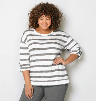 Avenue Striped French Terry Active Top