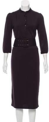 Diane von Furstenberg Wool Short Sleeve Dress