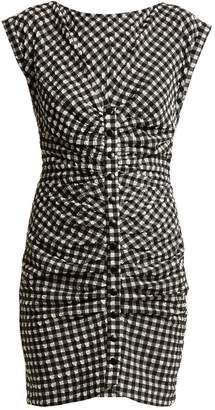 Rachel Comey Flatlanders ruched gingham mini dress