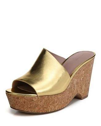 Diane von Furstenberg Bonnie Metallic Wedge Sandal