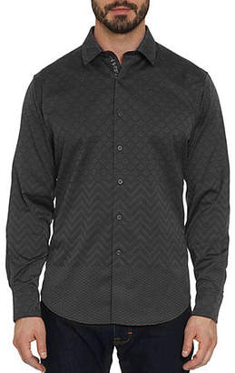 Robert Graham Wallace Geometric Woven Button-Down Shirt