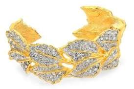 Kenneth Jay Lane 22K Goldplated Leaves Cuff Bracelet