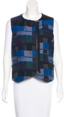 Zero Maria Cornejo Wool-Blend Jacquard Vest