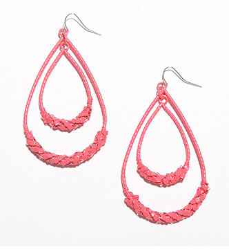 With Love From Ca Double V Dangle Earrings