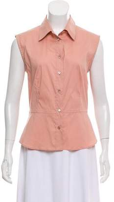 Prada Sleeveless Button-Up Top