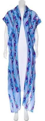 Hermes Silk Chain Print Robe w/ Tags