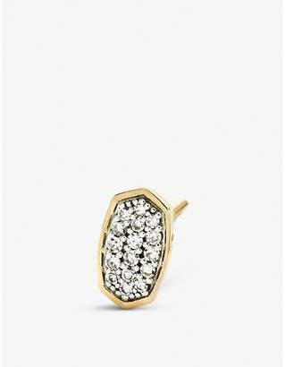 Kendra Scott Gypsy 14ct yellow-gold and pavé diamond earrings