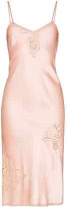 One Vintage lace-trimmed slip dress
