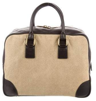 Céline Canvas Boston Bag