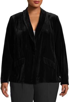 INC International Concepts Plus Velvet Blazer