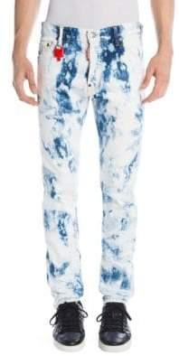 DSQUARED2 Cool Guy Shredded Acid Wash Jeans