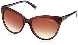 GUESS Women's Acetate Cat-Eye Aviator Sunglasses