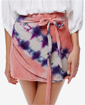 Free People Cotton Tie-Dyed Mini Skirt $88 thestylecure.com