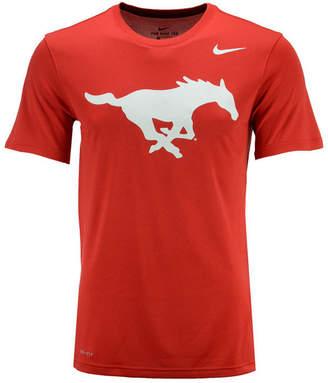 Nike Men's Smu Mustangs Dri-Fit Legend 2.0 Logo T-Shirt