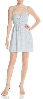 Aqua Smocked Floral Fit-and-Flare Dress - 100% Exclusive