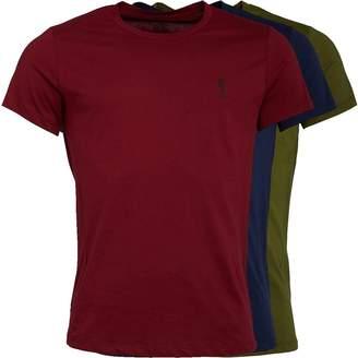 Religion Mens Three Pack T-Shirt Burgundy/Navy/Khaki