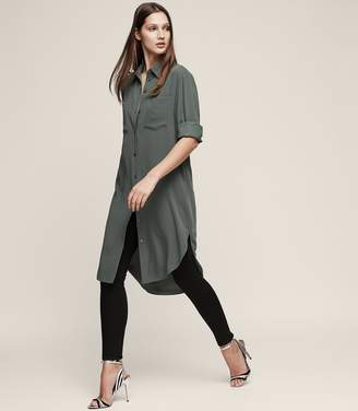 Reiss Zoey Longline Shirt Dress