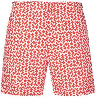 Orlebar Brown geometric pattern swim shorts