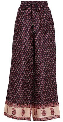 Zimmermann Printed Linen Wide-leg Pants