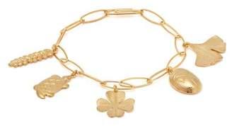 Aurelie Bidermann Aurelie Gold Plated Charm Bracelet - Womens - Gold