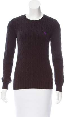 Ralph Lauren Sport Crew Neck Cable Knit Sweater