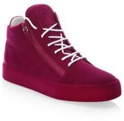 Giuseppe Zanotti Velvet Spray High-Top Sneakers