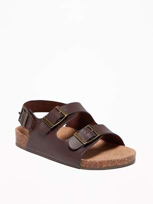 Old Navy Faux-Leather Buckled Strap Sandals for Toddler Boys