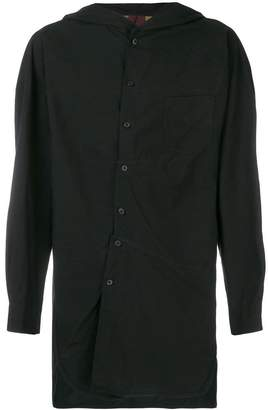Ziggy Chen hooded long shirt