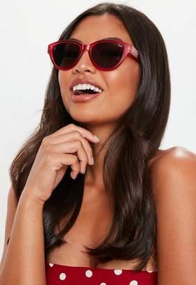 Missguided Quay Australia Red Rizzo Sunglasses