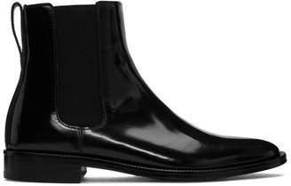 Ami Alexandre Mattiussi Black Patent Chelsea Boots