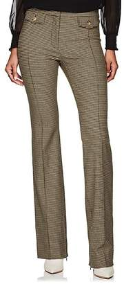 Derek Lam 10 Crosby Women's Checked Wool-Blend Flannel Crop Flared Pants