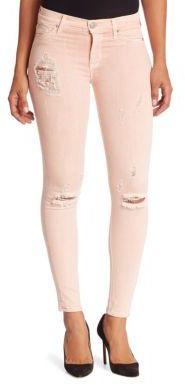 Hudson Nico Camo Skinny Jeans $195 thestylecure.com
