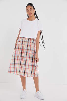 Urban Outfitters Jessie Plaid Midi Skirt