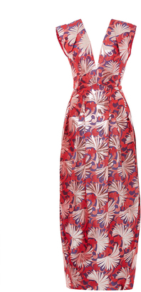Zac Posen Firework Lame Cap Sleeve Gown $3,490 thestylecure.com