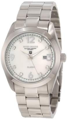 Mother of Pearl River Woods Women's RW 3 M WP SD SS Mother-of-pearl Crystal Watch