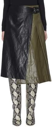 Cédric Charlier Buckled side asymmetric colourblock skirt