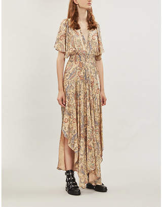 Maje Rachel paisley-print satin dress