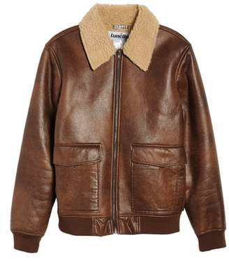 Tunellus Distressed Faux Leather Jacket