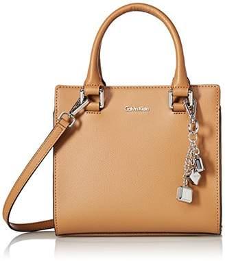 Calvin Klein womens Logan Mercury Leather Crossbody