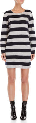 Le Mont St Michel Grey Striped Sweater Dress