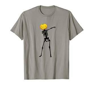 Mens Funny Halloween Tees-Kids Dabbing Skeleton Shirt