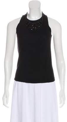Celine Embellished Cashmere Top Black Embellished Cashmere Top