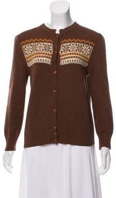 Valentino Patterned Knit Cardigan