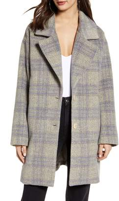 ASTR the Label Plaid Flannel Coat