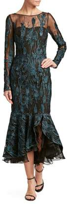 David Meister Long Sleeve Dress