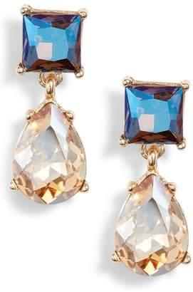 Halogen Princess Double Drop Earrings